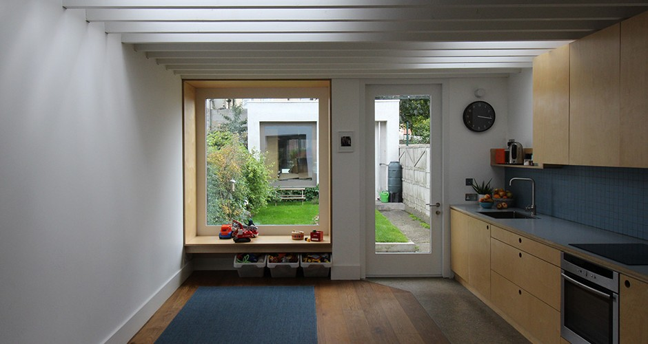 keller architects Dublin 7 House kitchen and window seat